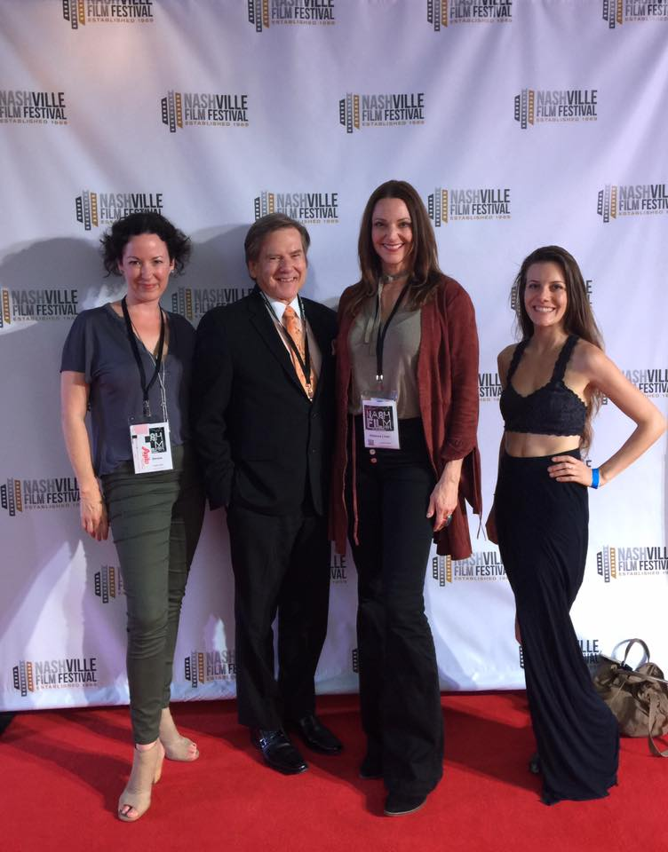 Caroline Woolridge Locorriere, Kelly Frey, Rebecca Lines and Heather Liddinton on the Red carpet at the Nashville Film Festival 2017.