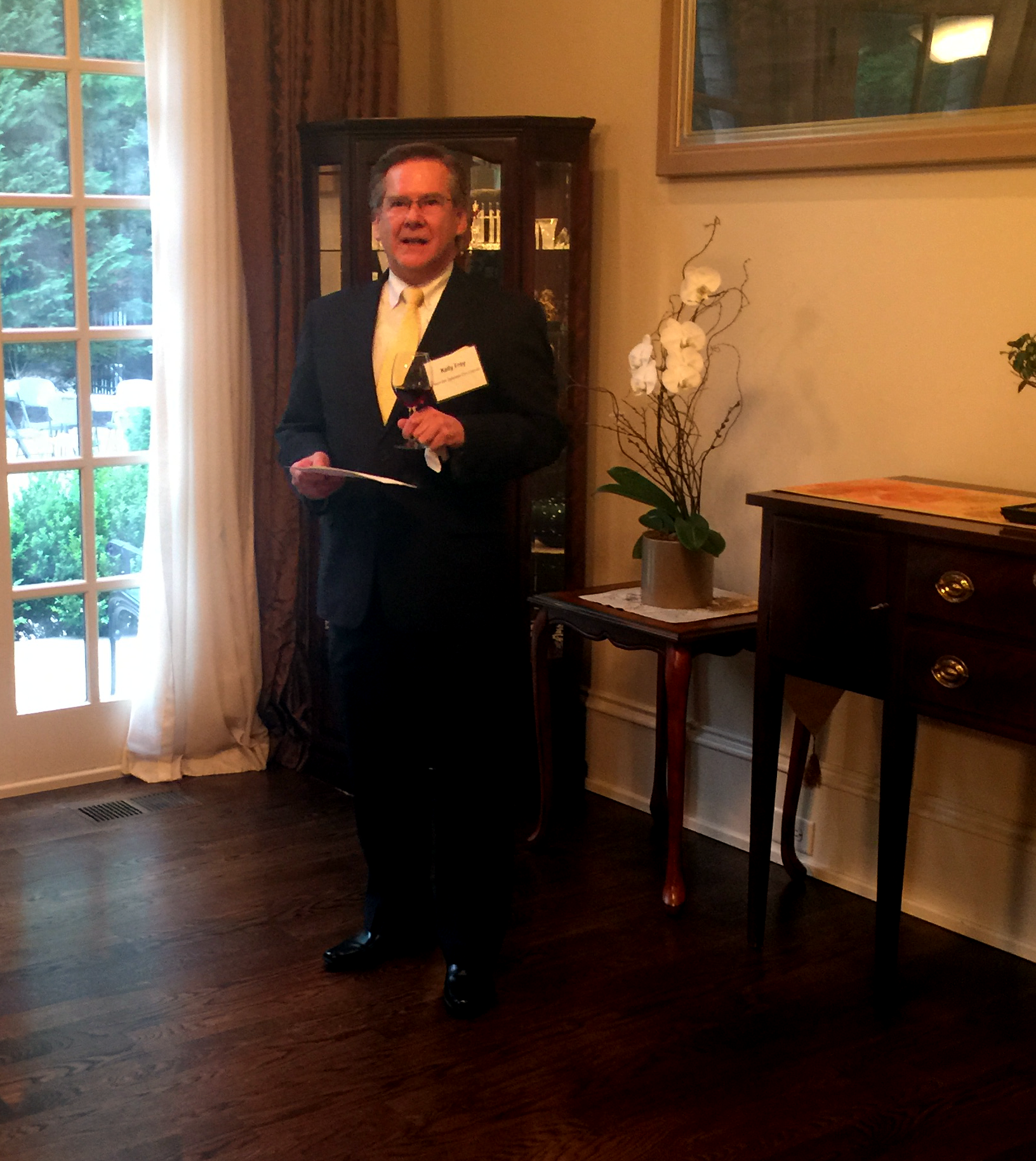 Kelly Frey, President of Movie City Films was asked to make a toast at the home of The Consul-General of Japan and Mrs. Kinefuchi at an Appreciation Reception in congratulation of the success of the Nashville Cherry Blossom Festival and the First Annual Japan Week.