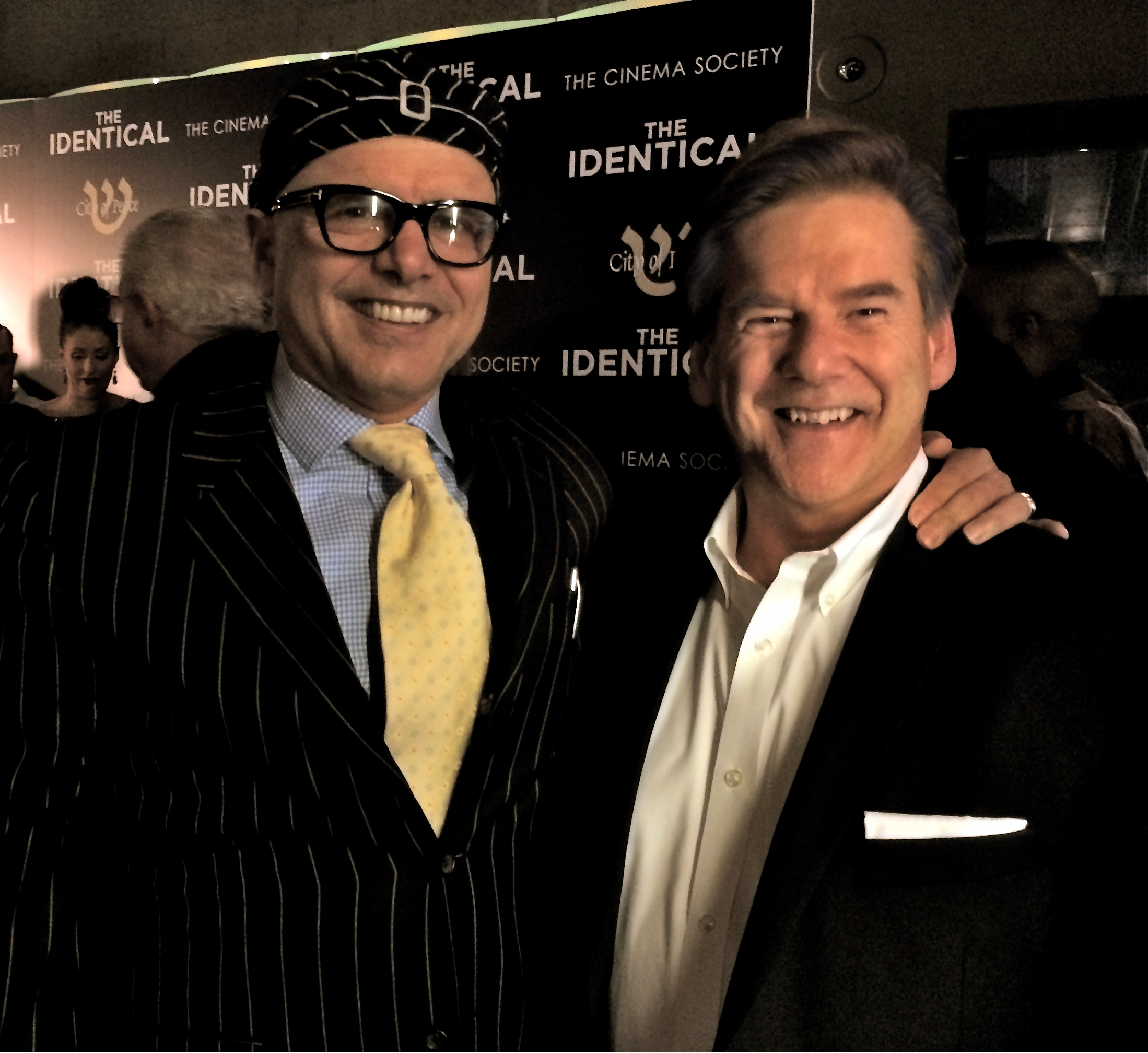 "joe pantoliano (Avi Hirshberg ""The Identical"") and Kelly Frey (Associate Producer ""The Identical"") at the movie premiere of ""The Identical"" in NYC, April 2014."