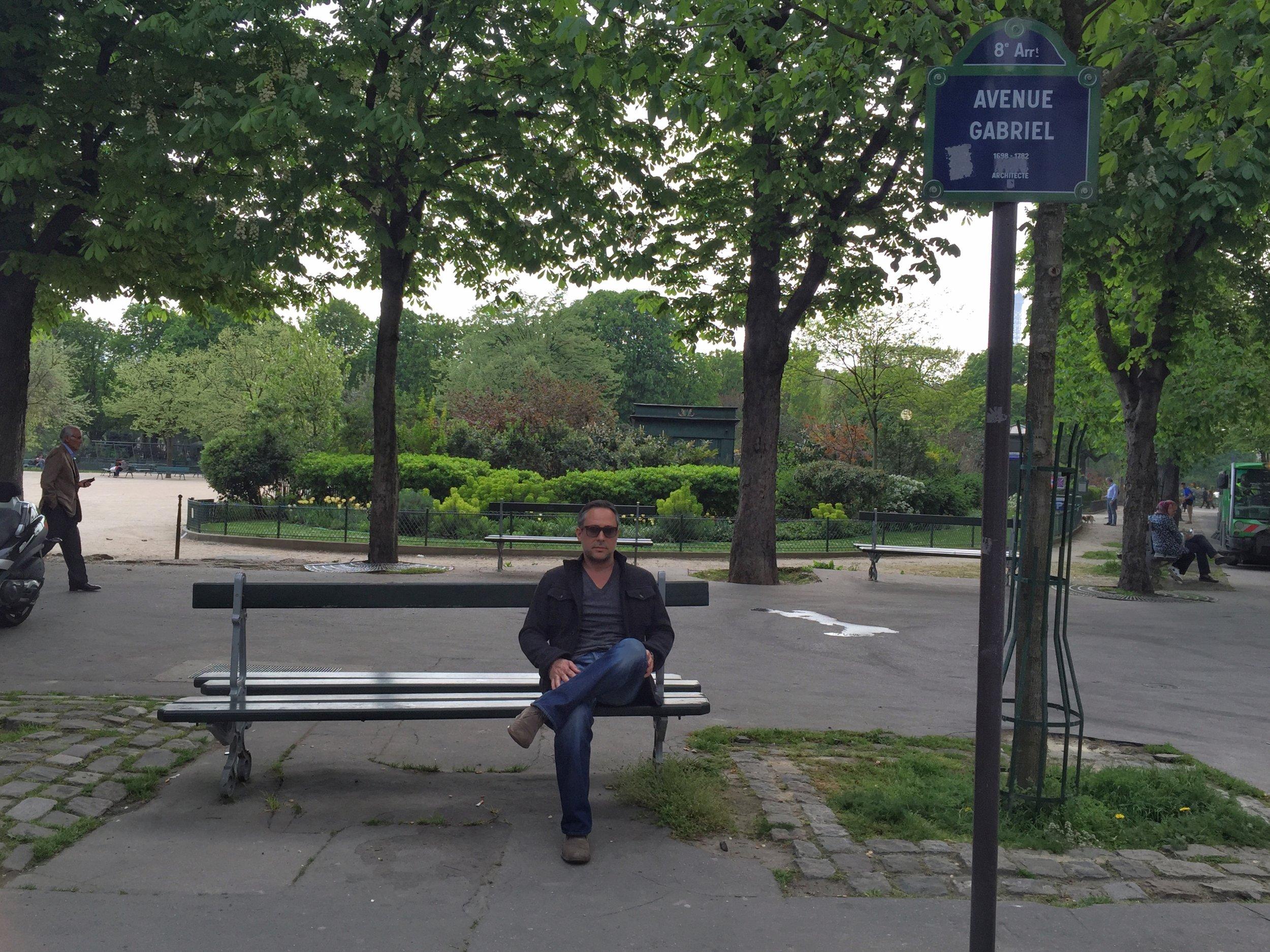 Public Park in Paris, France - 2015