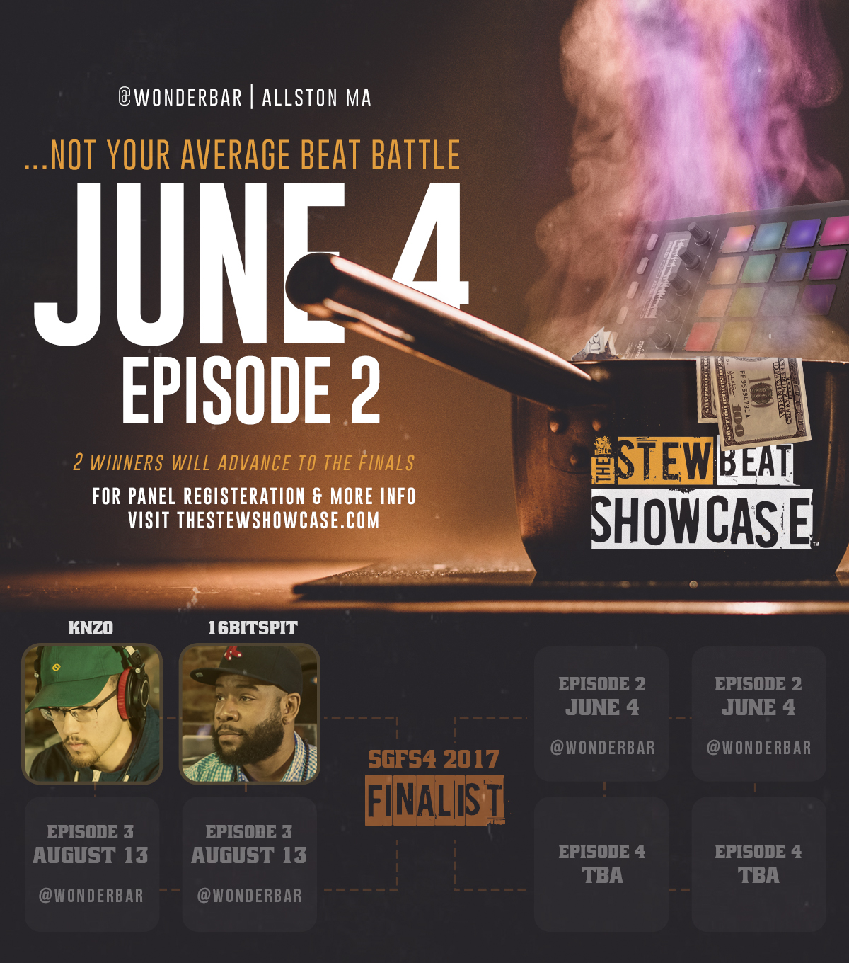 Beatmakers go to  http://www.thestewshowcase.com/registrationrules  to register.