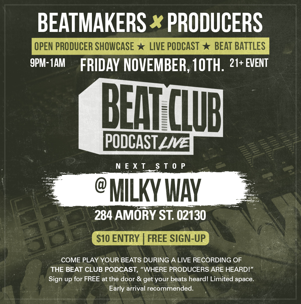 LISTEN TO PAST EPISODES HERE:  WWW.BEATCLUBPODCAST.COM.  EVERY SUNDAY 1PM - 3PM EST WE ARE LIVE ON AIR. LISTEN BY GOING TO WWW.BEATCLUBPODCAST.COM .