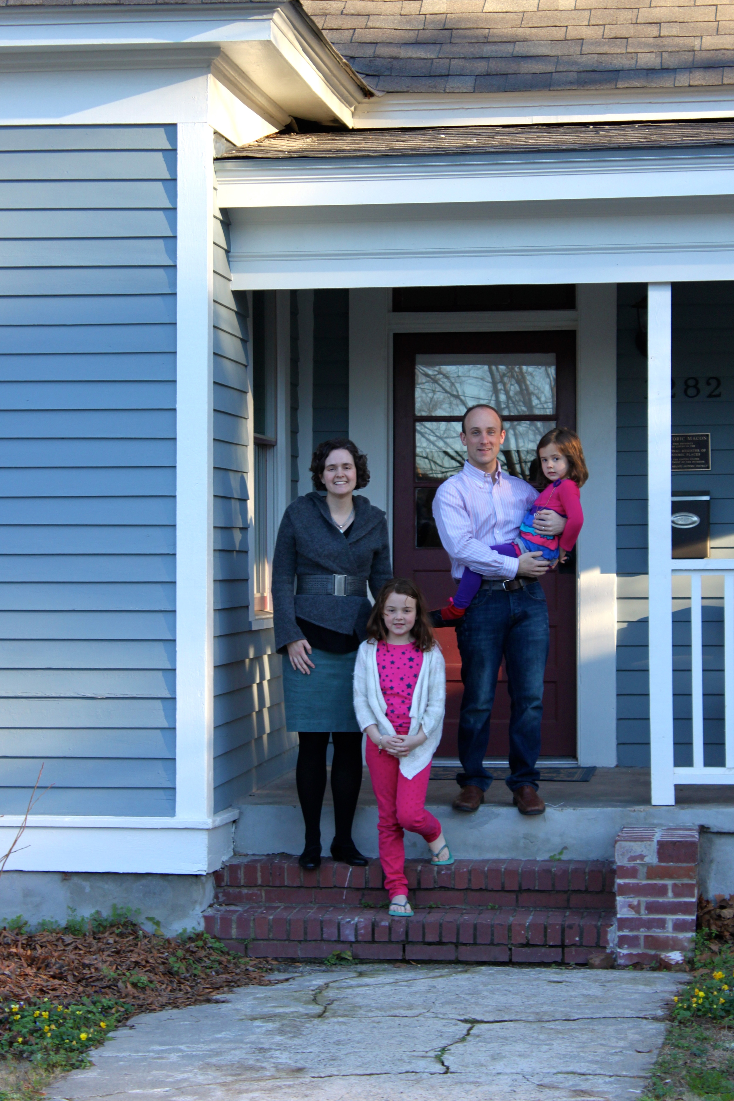 AFTER: Two young professors moved their family from Arkansas to work at Mercer University and now reside on Calhoun Street in Beall's Hill.