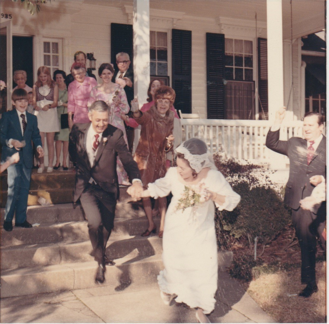 The Barfield wedding reception in 1971.