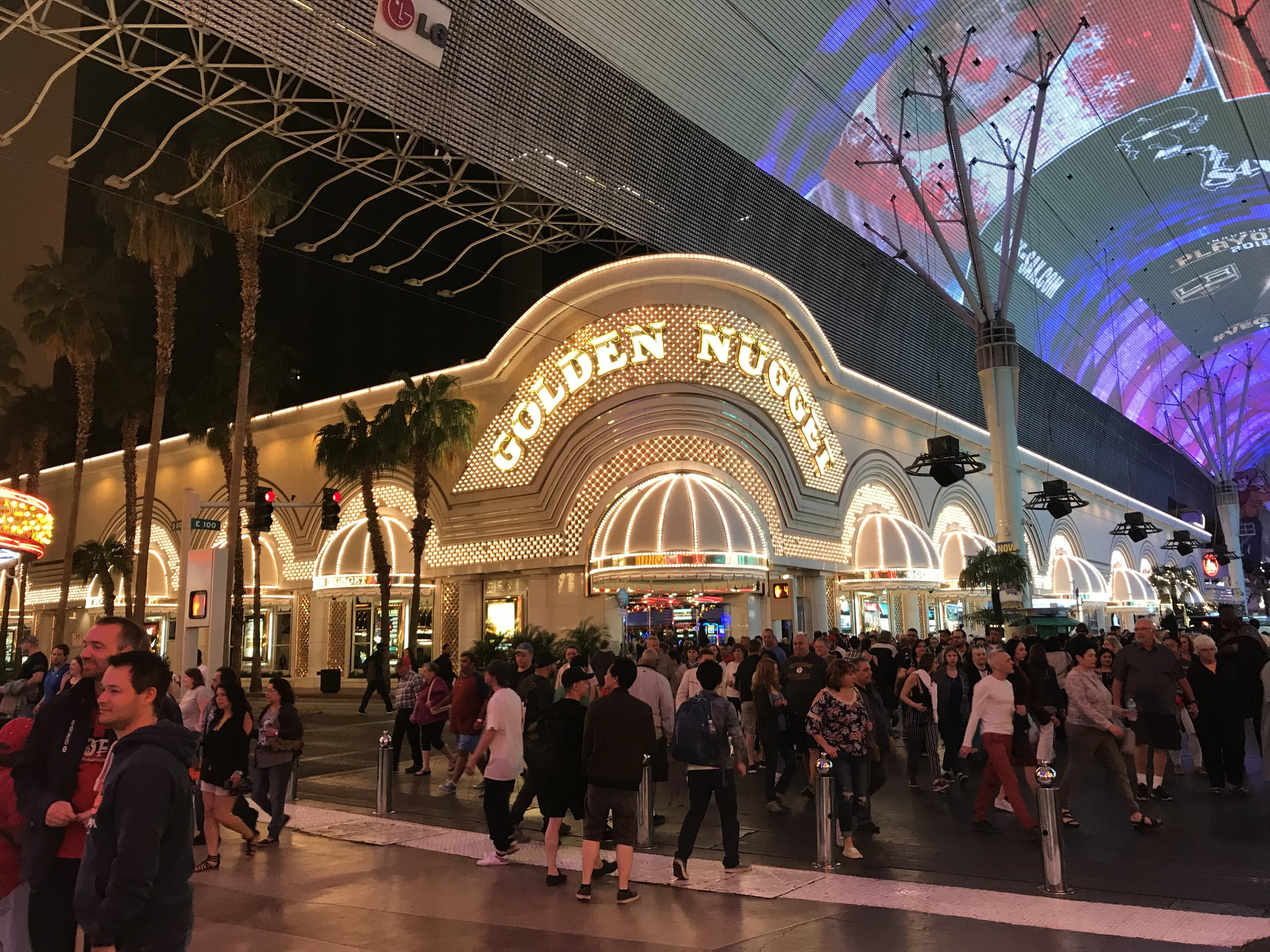 "Although many casinos and hotels in Las Vegas are demolished to make way for totally new businesses, others have gone through several facelifts or ""re-brandings."" The Golden Nugget is one of those casinos and is still open in the ""Glitter Glutch"" section of Las Vegas Today.  Images by Kim Campbell."
