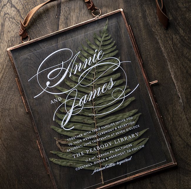 SIMPLICITY CLEAR INVITATION by Basic Invite