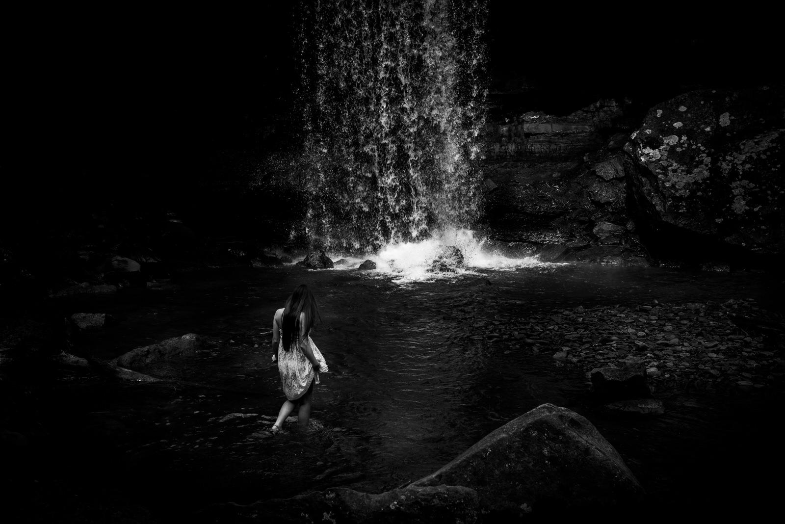 walking to ohiopyle waterfall