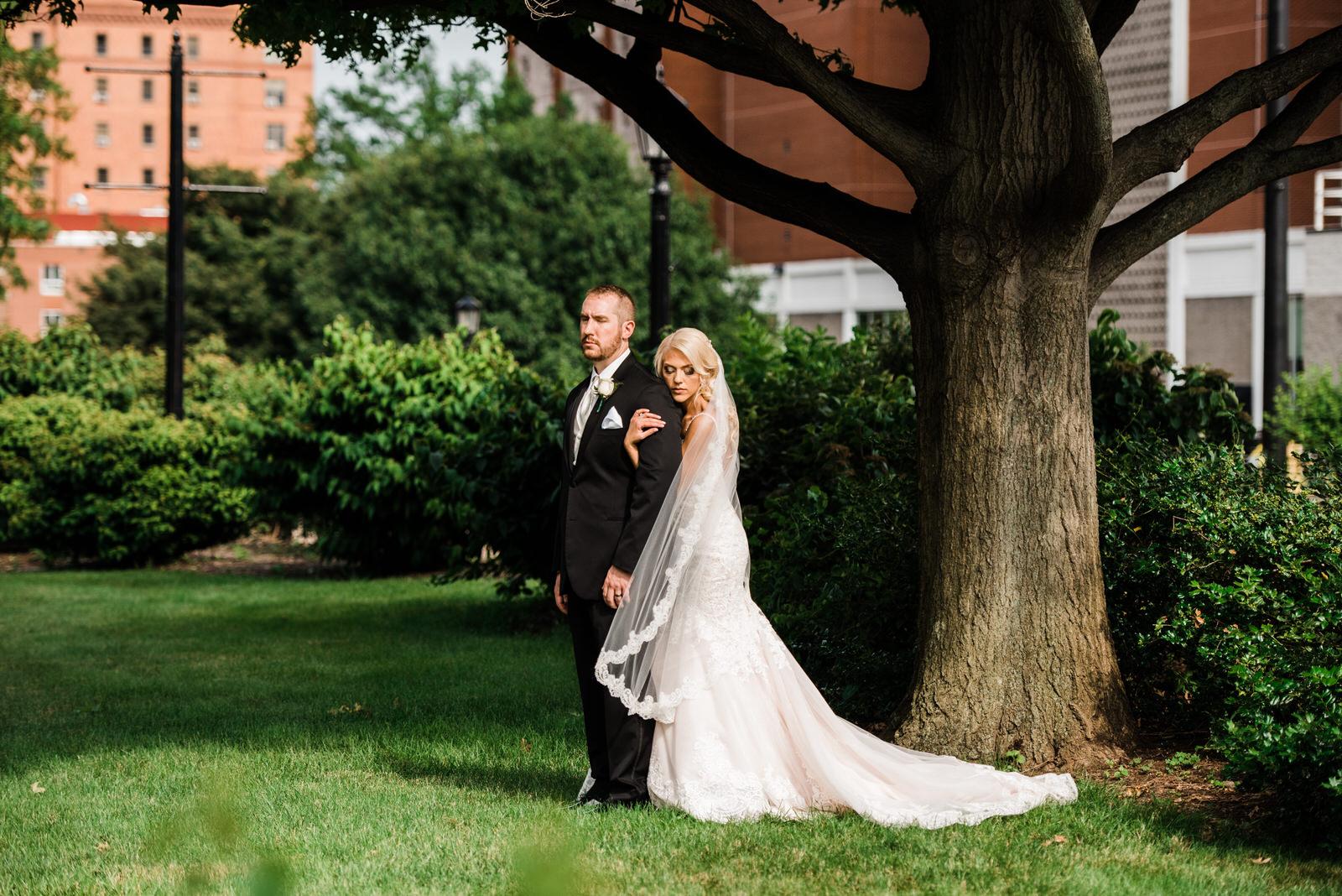 posed image on wedding day