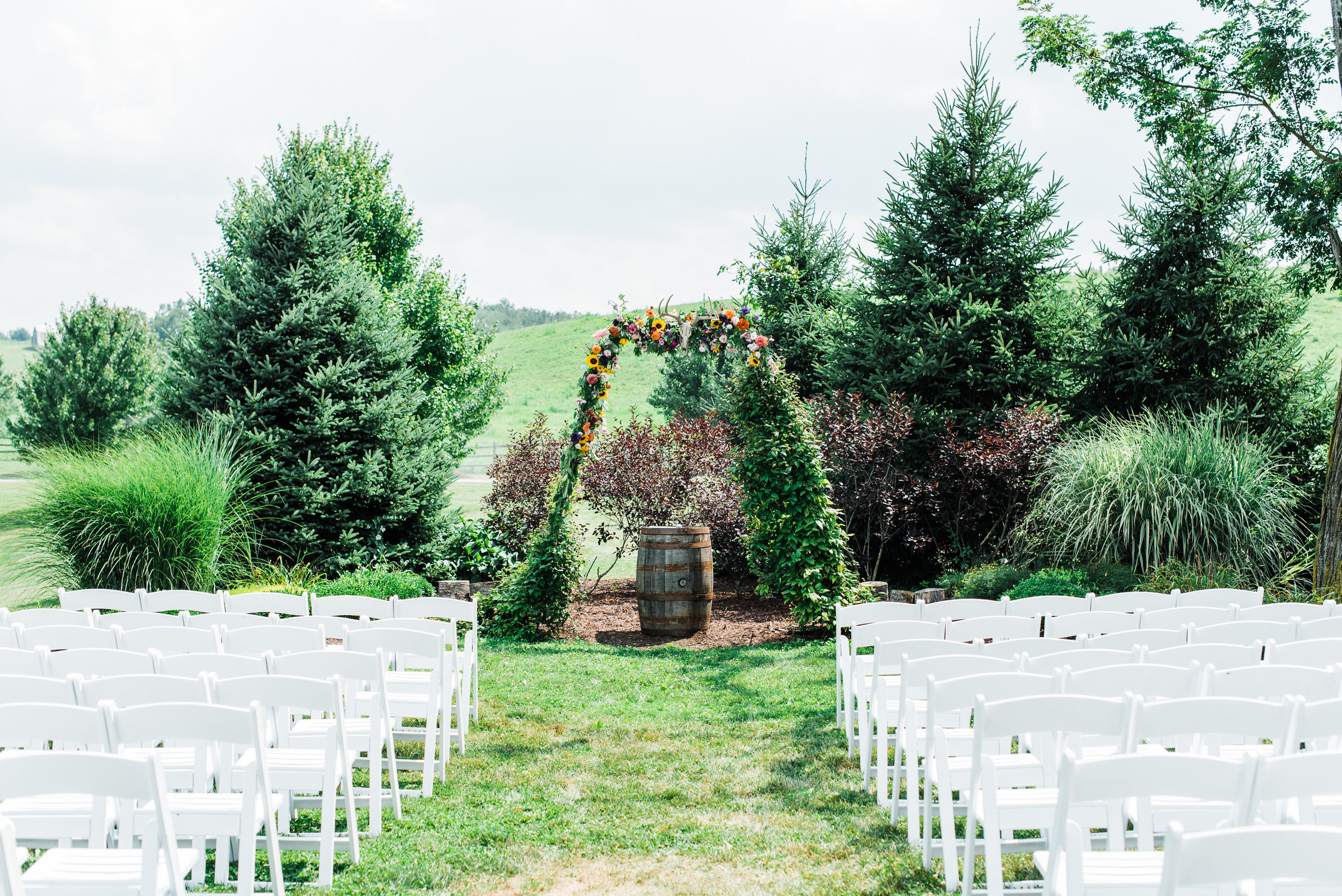 Wedding Aisle at Armstrong Farm Wedding Venue
