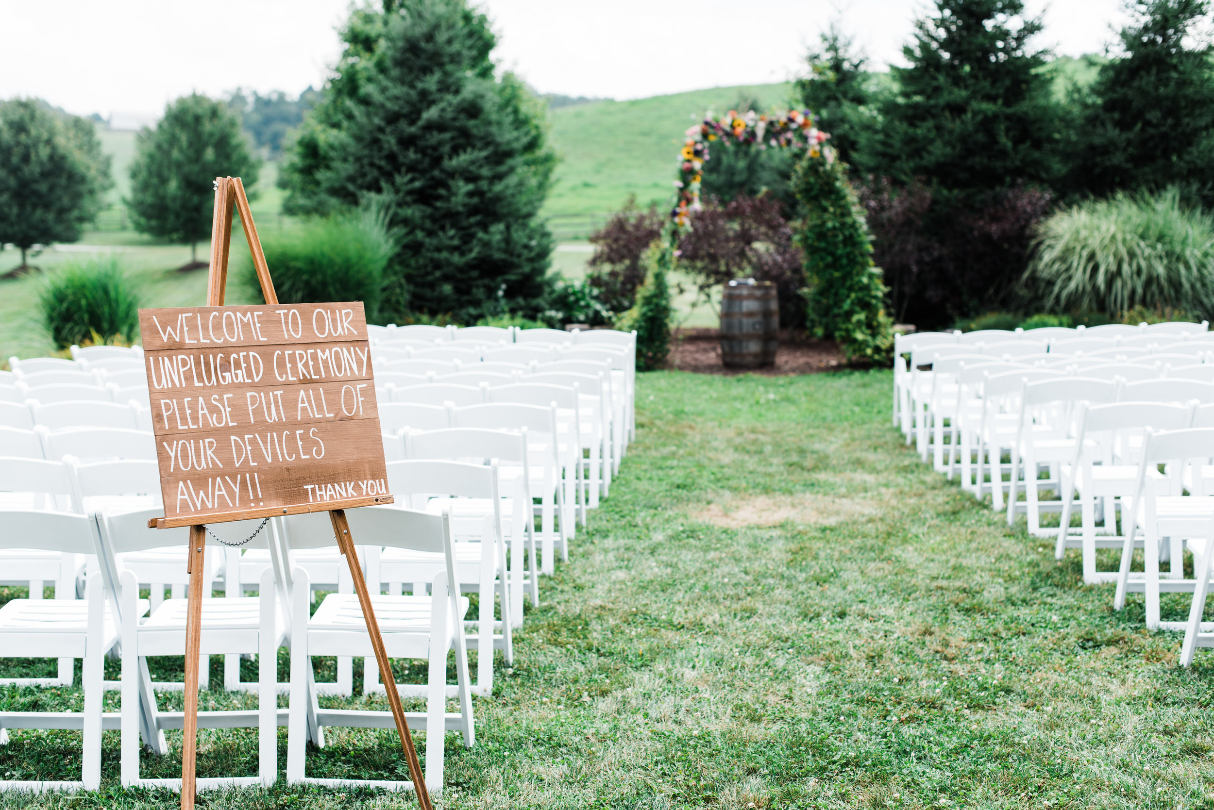 Aisle at Armstrong Farm Wedding Venue