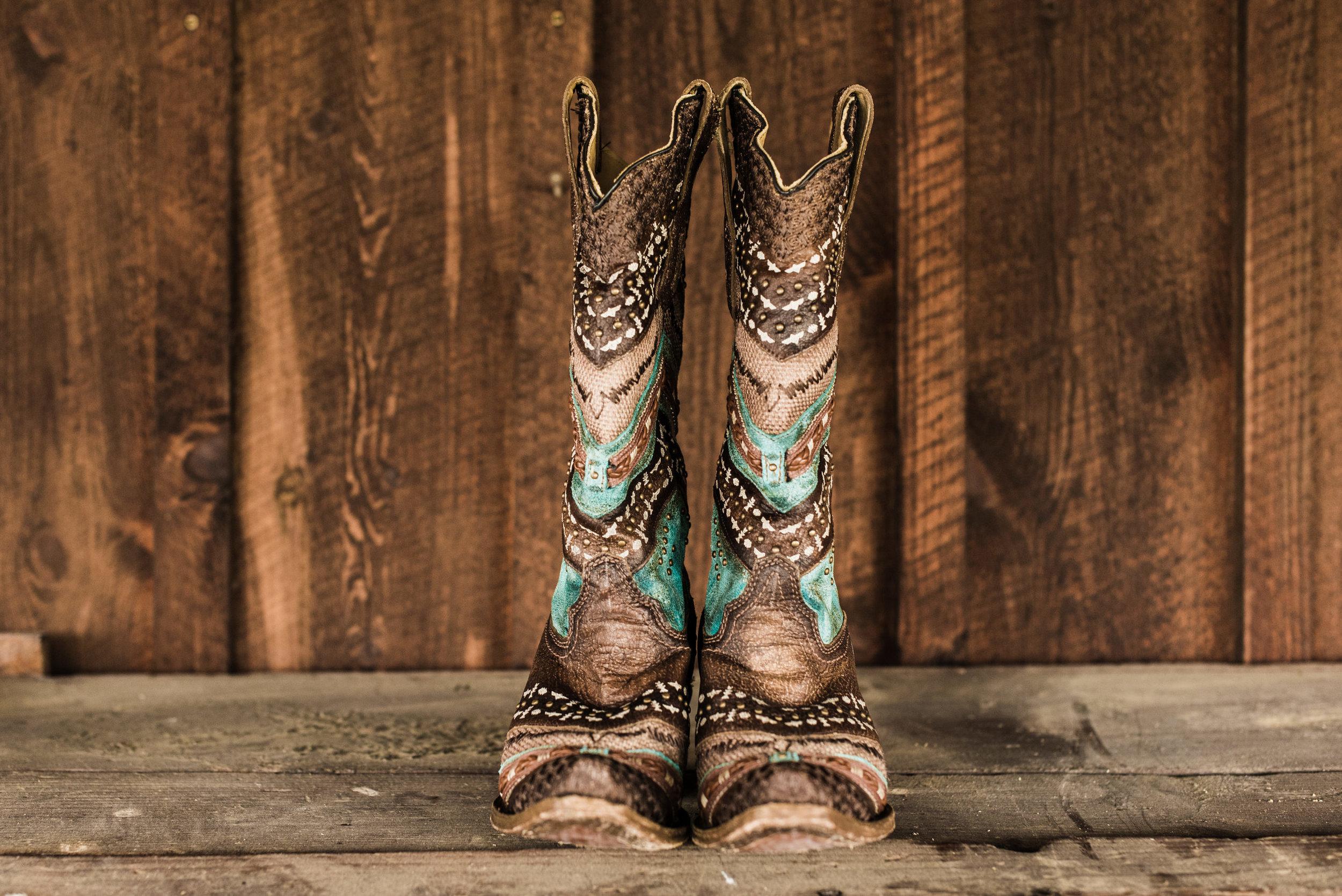 brides boots Armstrong Farm
