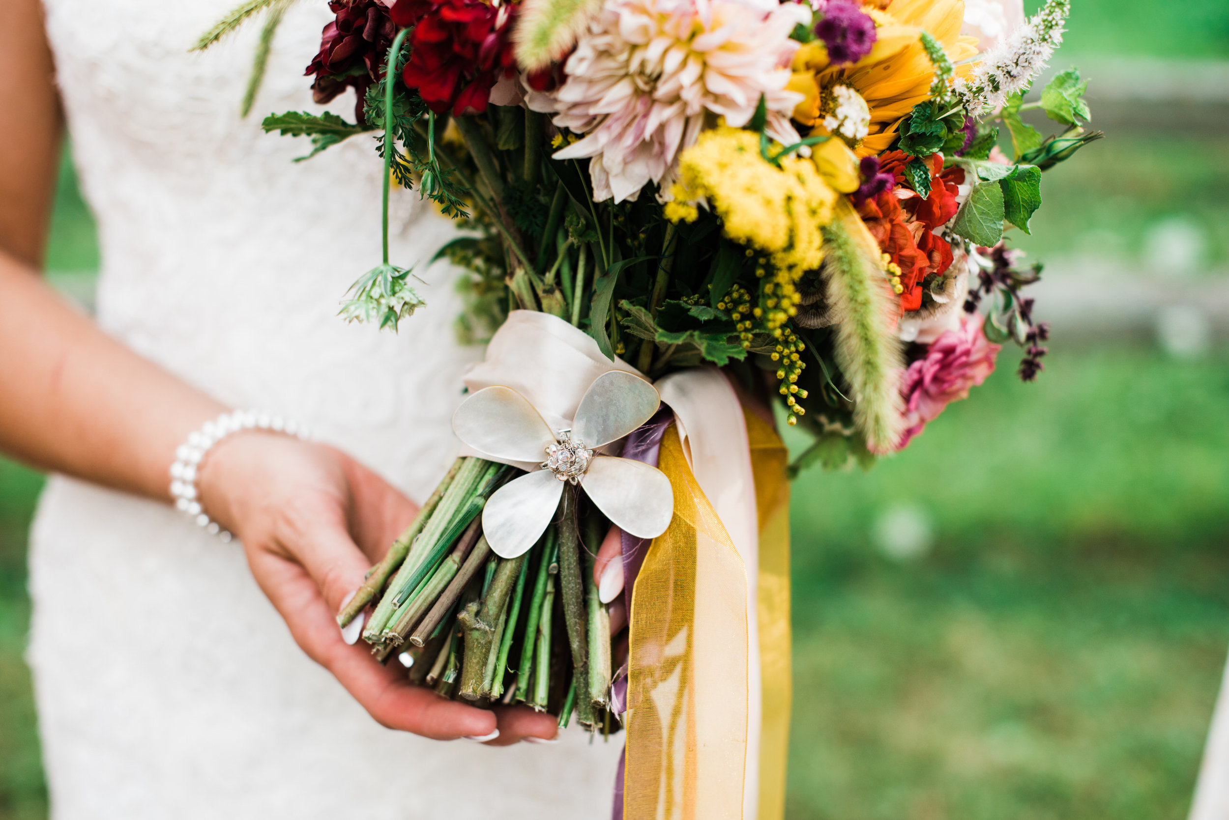 flowers at Armstrong Farms Wedding Venue