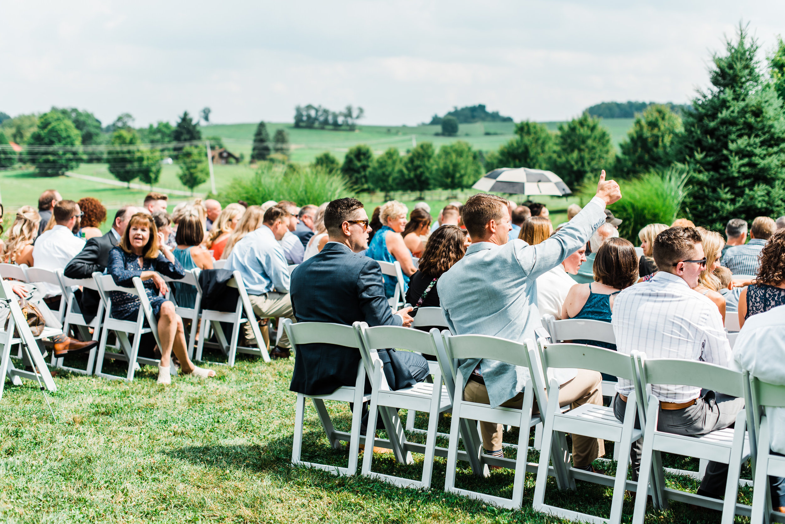 guests at  Armstrong Farms Wedding Venue