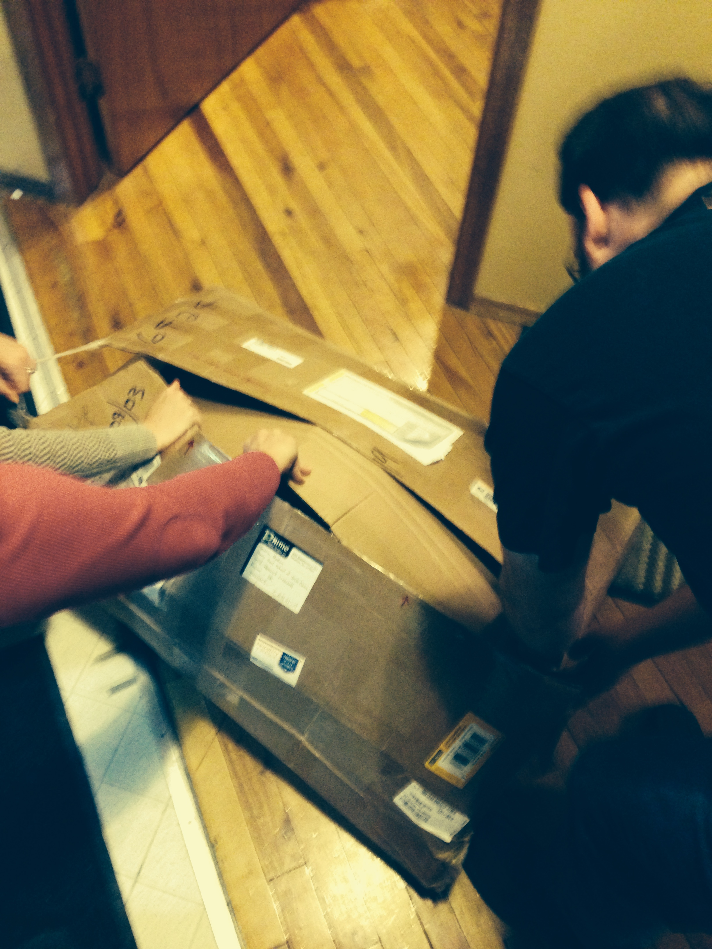 We couldn't wait to tear into the boxes for our new costumes!