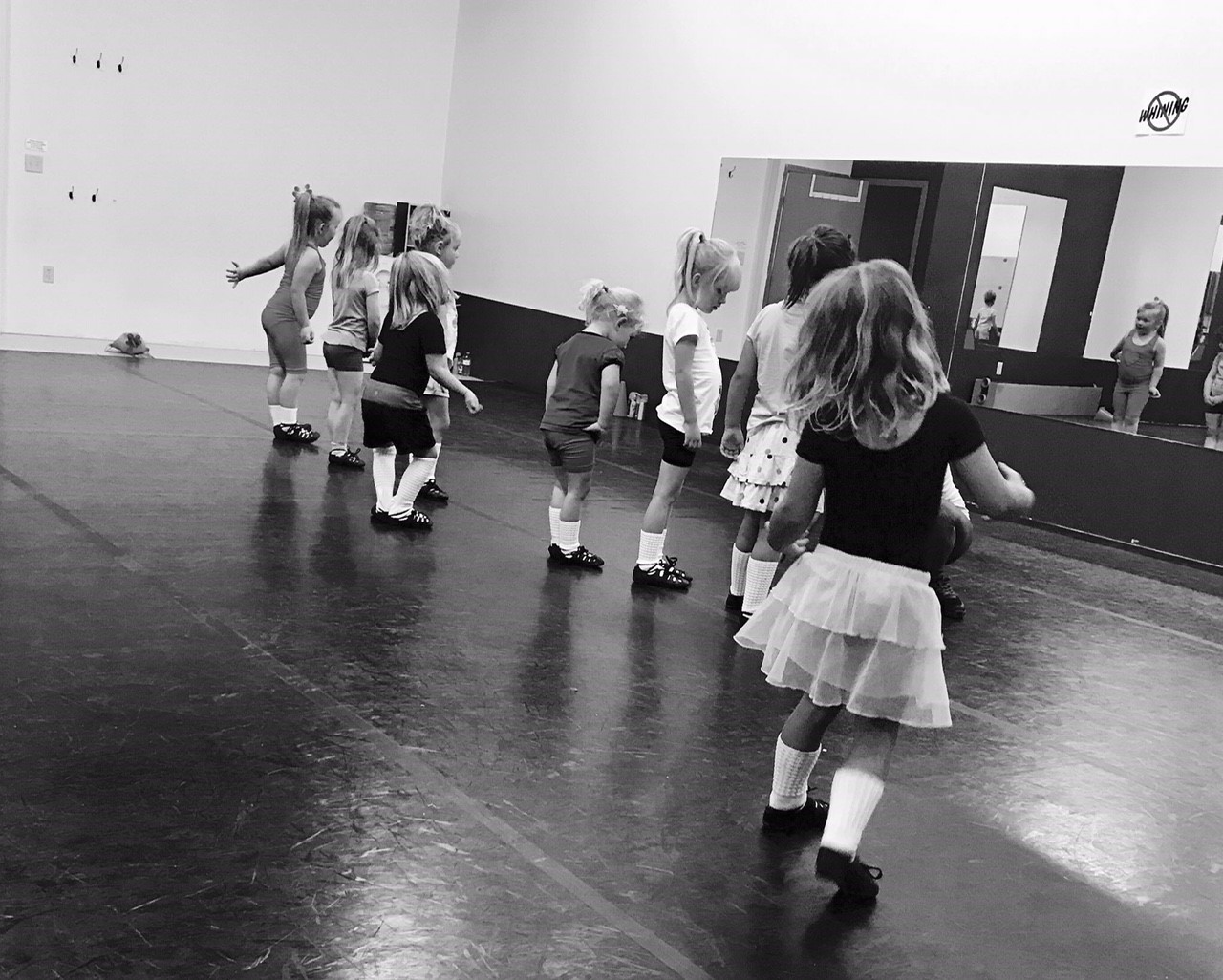 Some of our Wee Ones learning the art of turnout