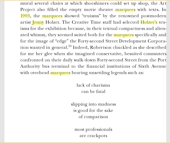 Text from 'Money Jungle: Imagining the New Times Square' by Benjamin Chesluk    via Google   .