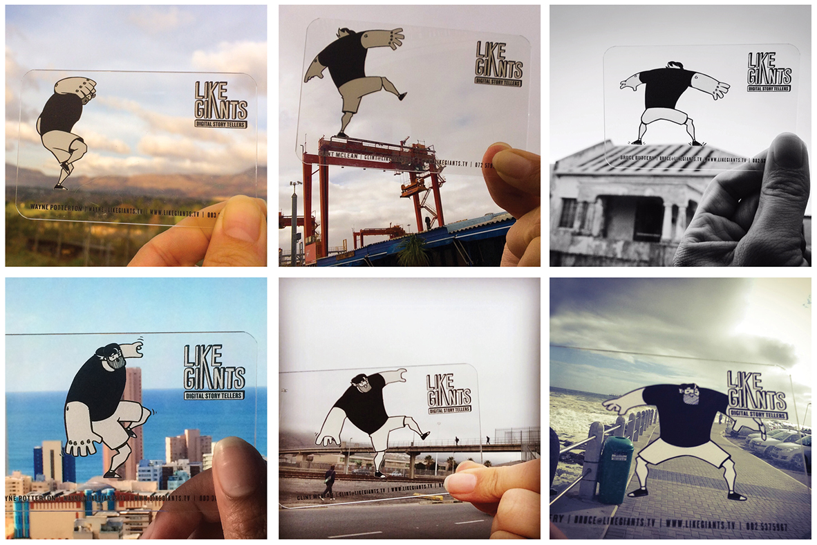 Multiple Artists,  Like Giants: Interactive Business Cards