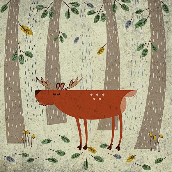 Anna Sztromwasser, Scotland Inspired Deer In Its Natural Habitat