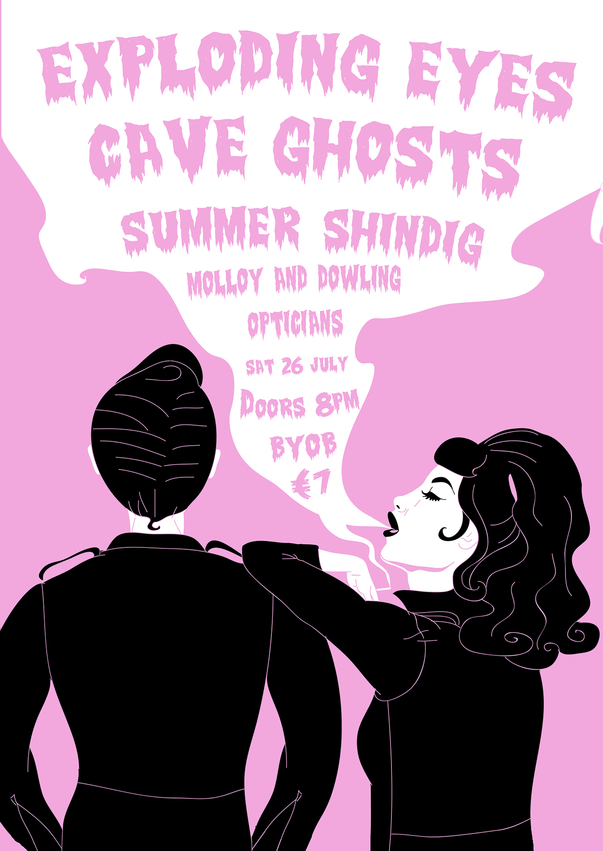 Jen Connell,  Exploding Eyes & Cave Ghosts Poster