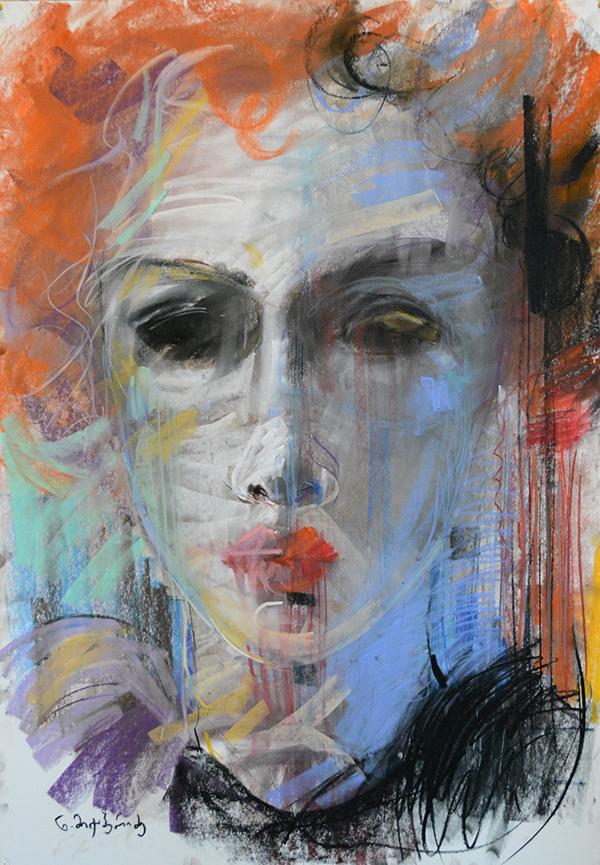 Niniko Miqaberidze,  Women With Mask