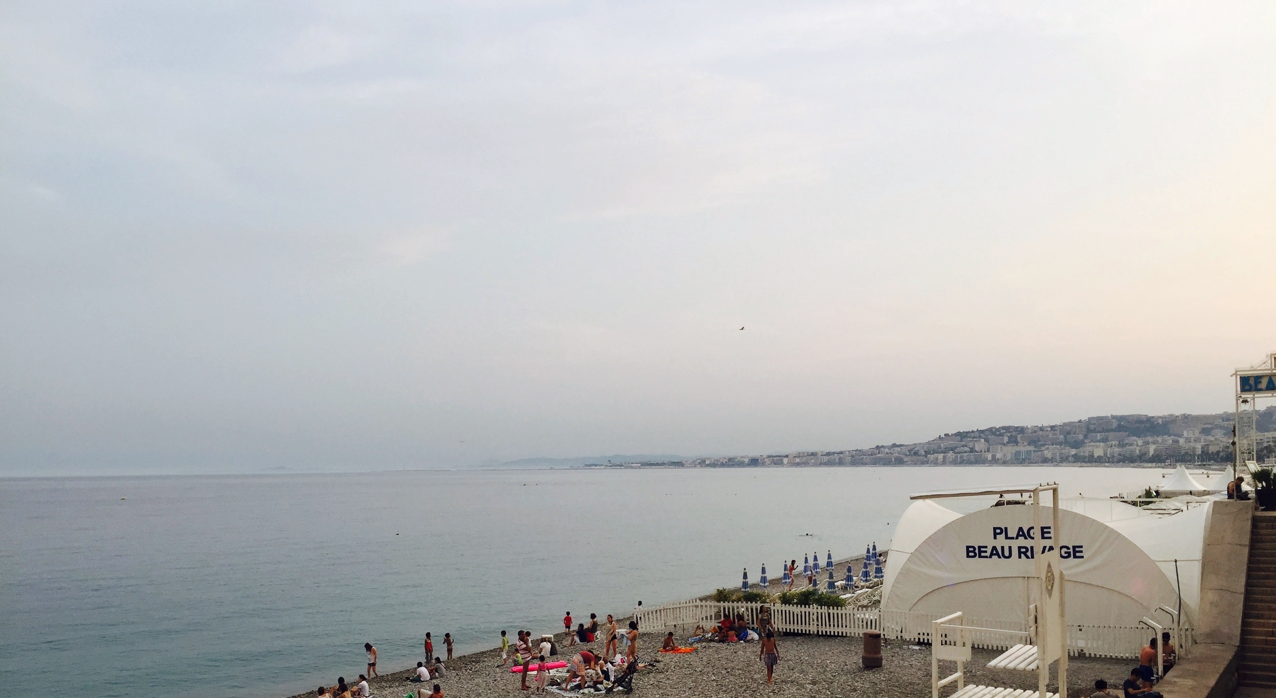 Nice, France at sunset