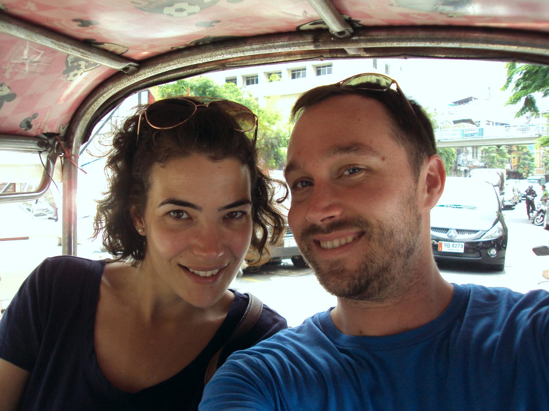 Tuk-tuk ride in Bangkok, Thailand