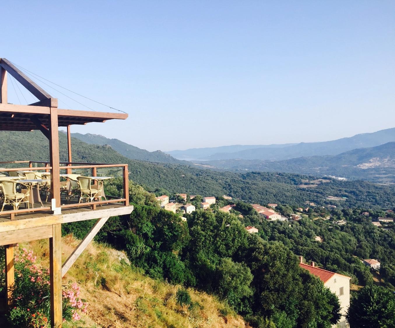 View from Hotel San Damianu, Sartene, Corsica