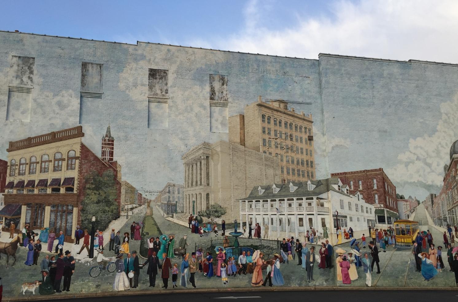 Mural in downtown Salisbury, North Carolina