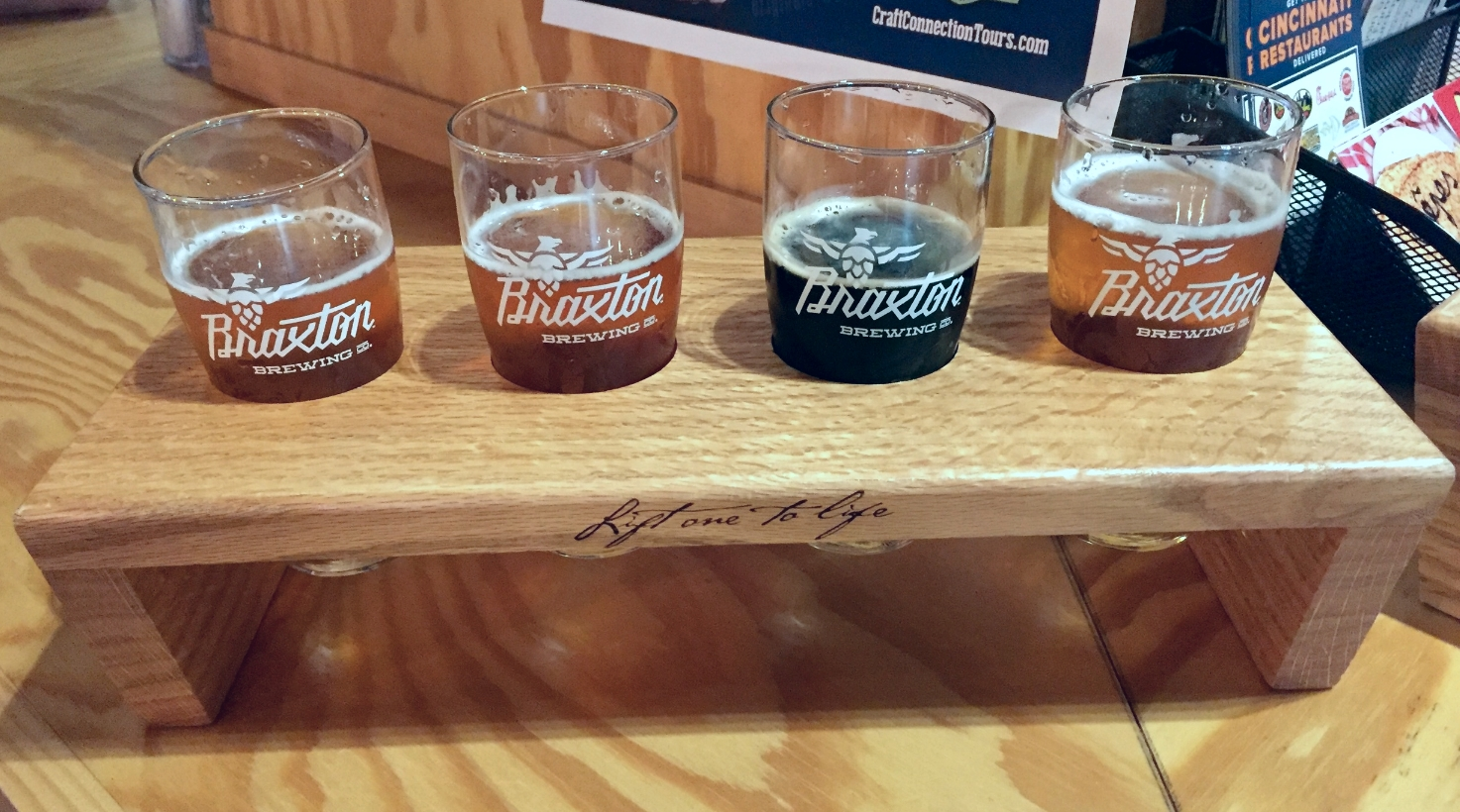 My Hefeweizen, IPAs, and Stout at the Braxton Brewing Company