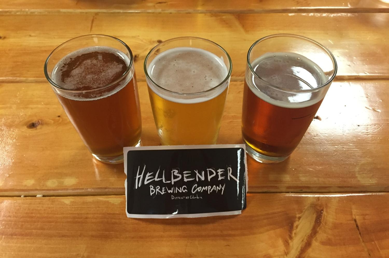 Southern Torrent Saison, Bare Bones Kolsch, and Red Line Ale at Hellbender