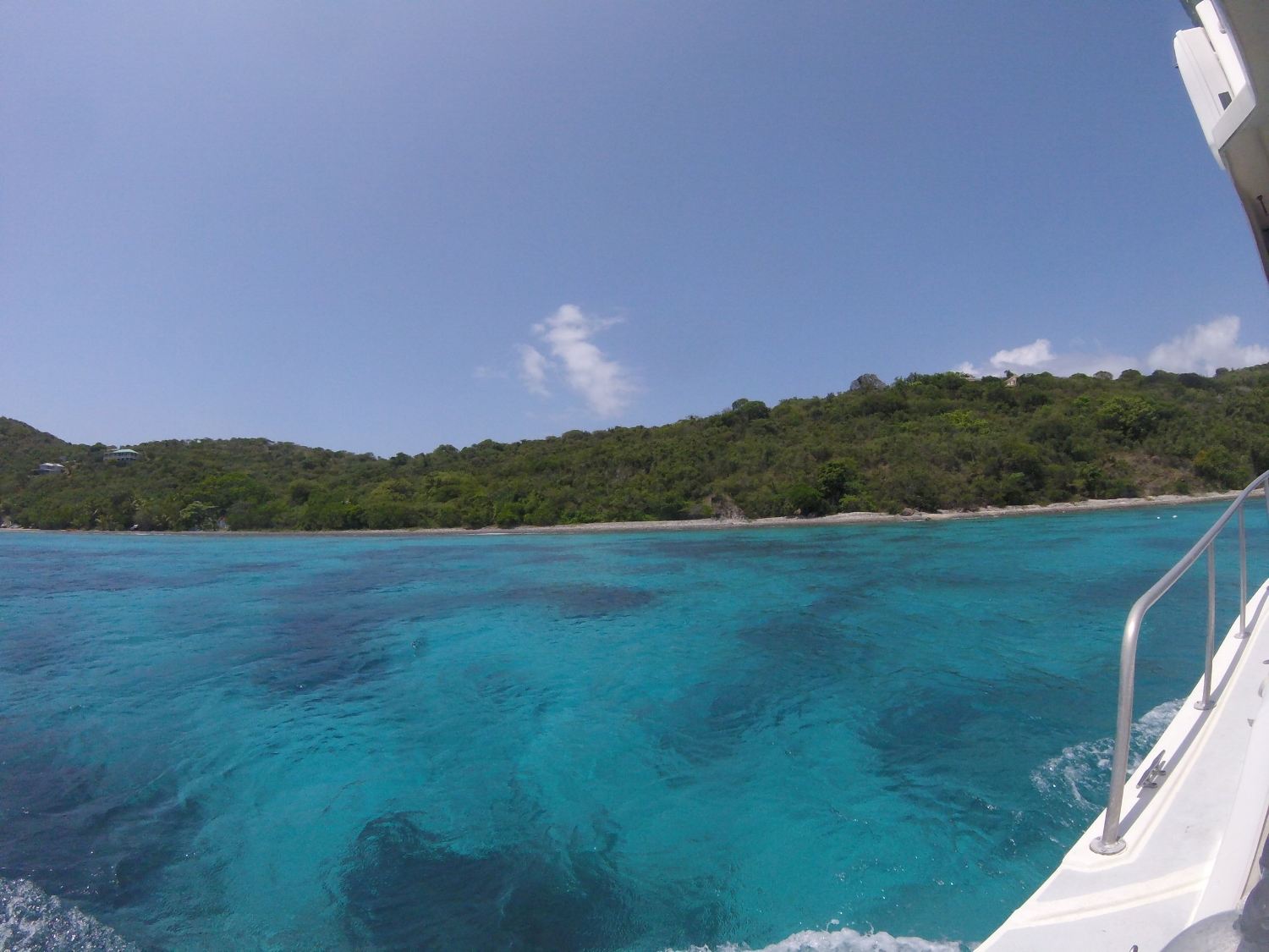 Site of our first dive, Little Saint James