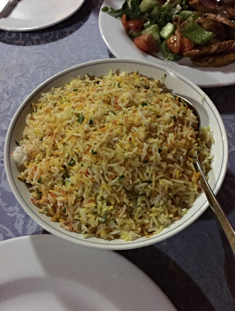 My seafood biryani at Al Boom Restaurant