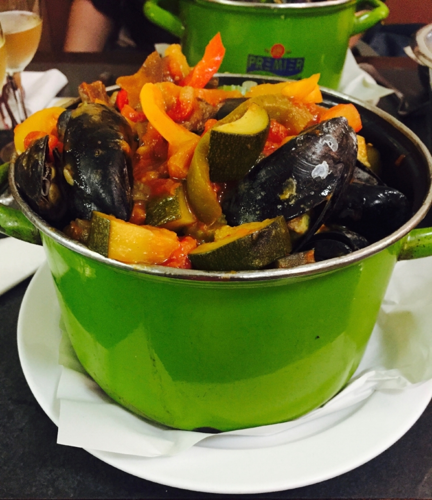 You visit without trying the mussels