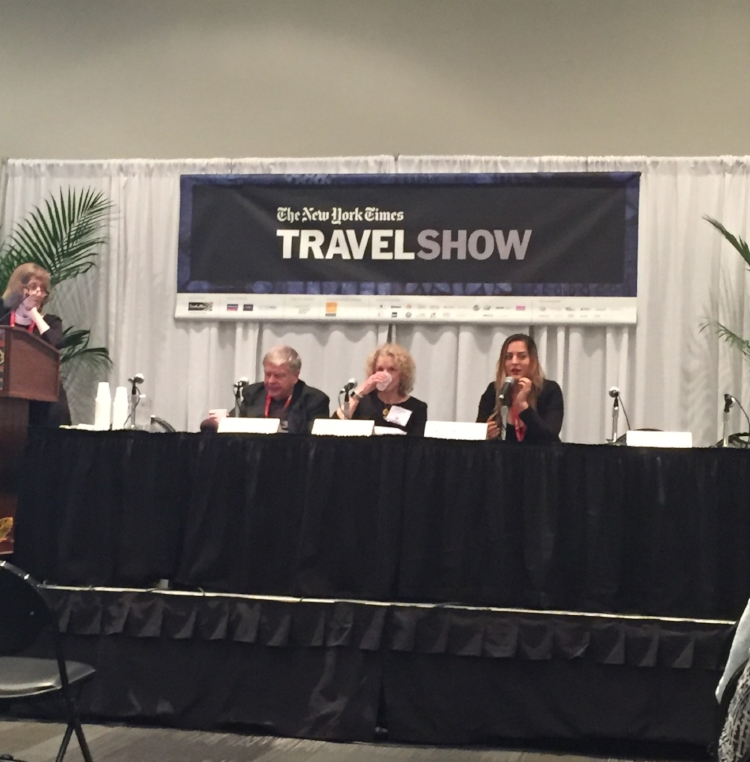Adventurous Kate speaks at The New York Times Travel Show