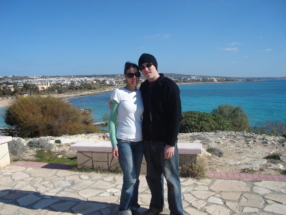Us in Agia Napa, Cyprus in 2008