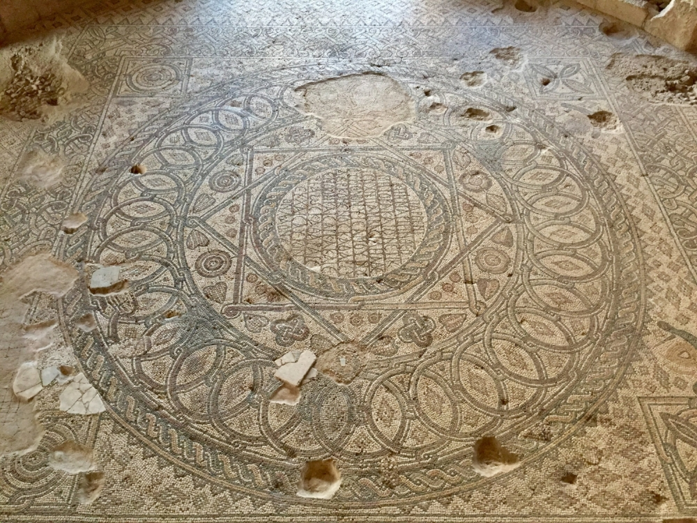 Mosaic inside the Church of the Virgin built in 767 AD