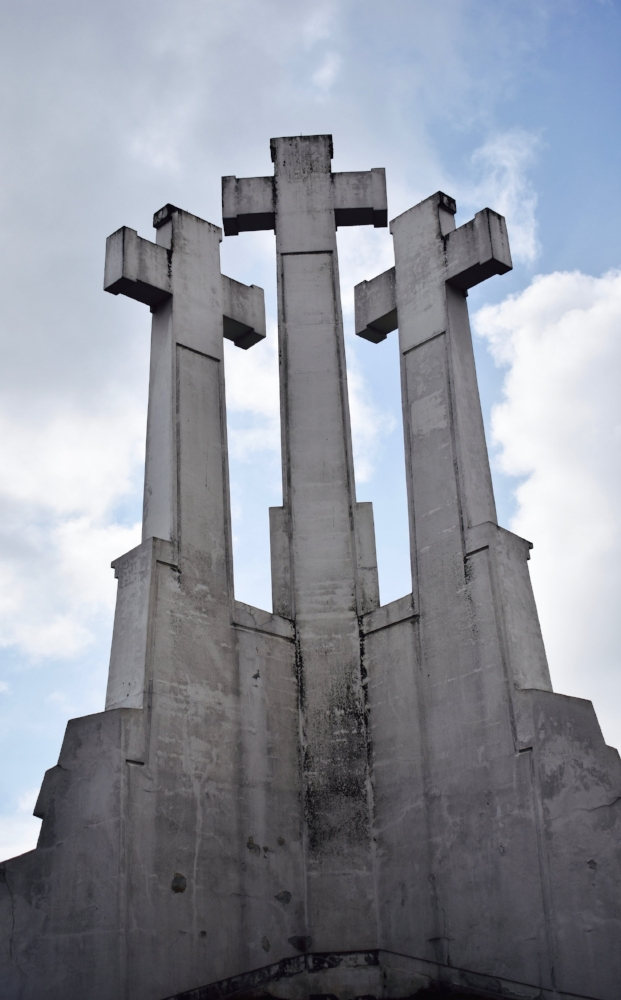 The Three Crosses high above Vilnius