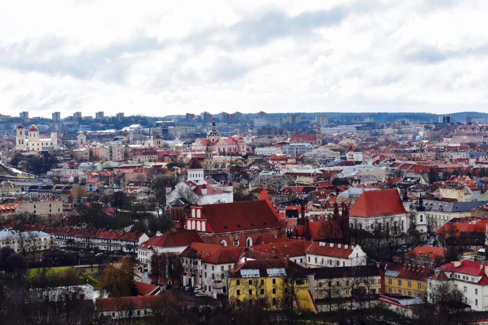 View of Vilnius, Lithuania from the Three Crosses