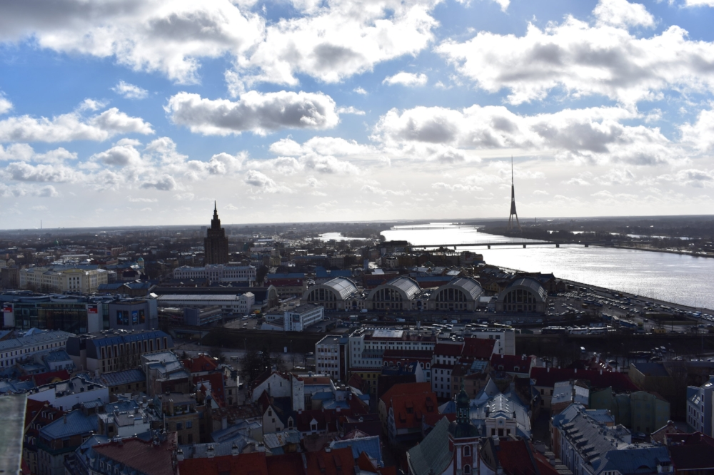 Stunning view of Riga from atop St. Peter's Church