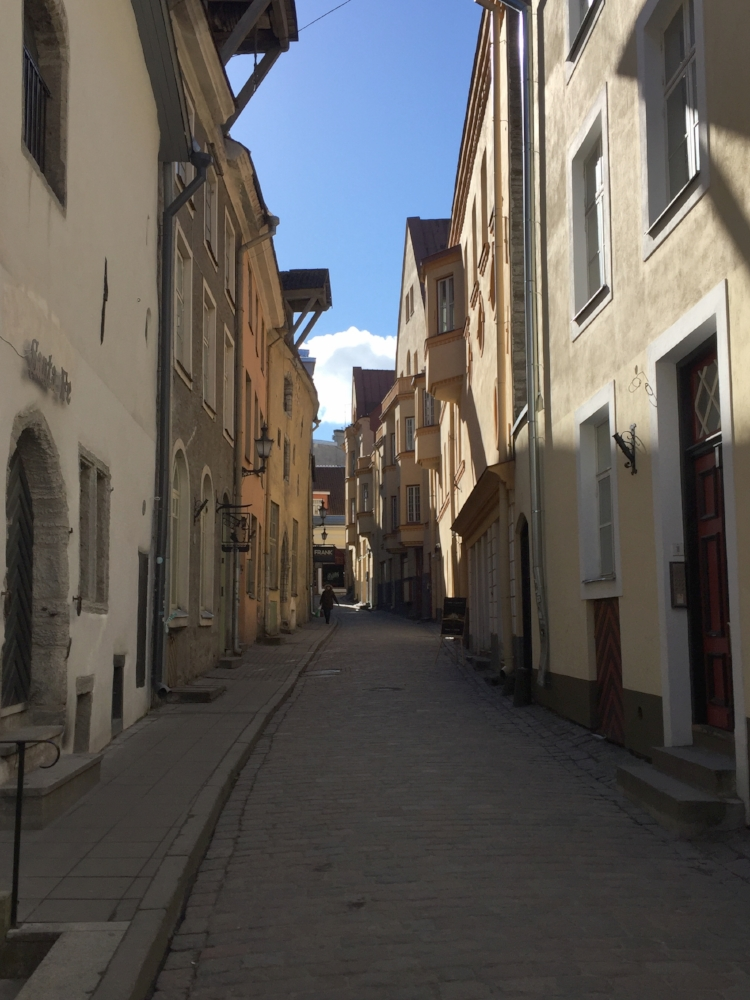 The cobblestone streets of Tallinn's Old Town