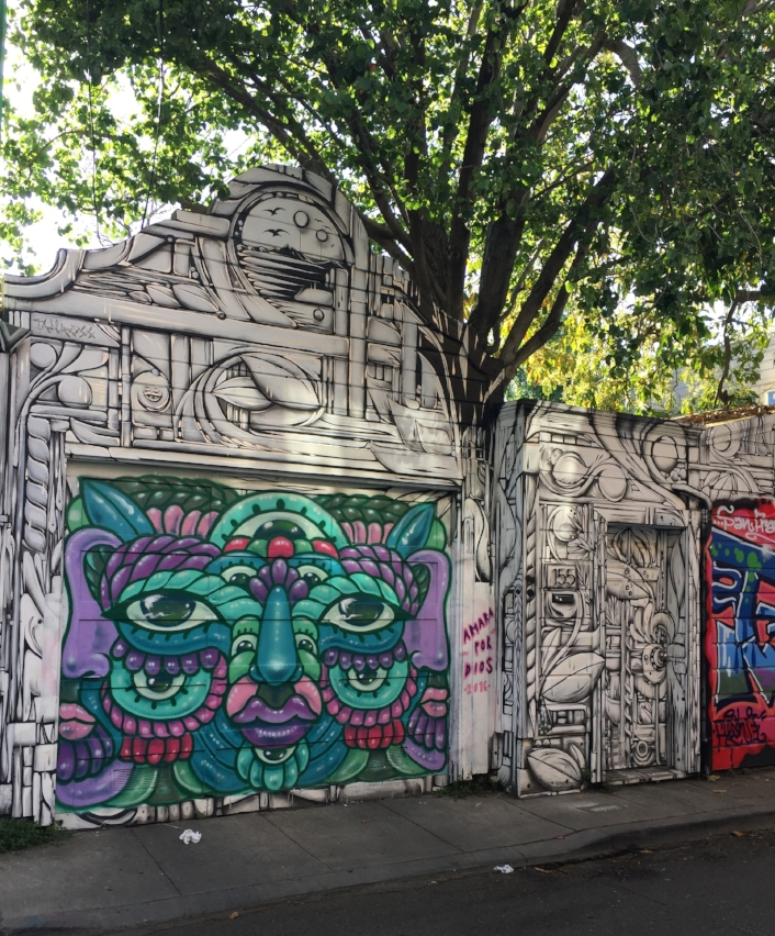 The door on the right was the entrance to our Airbnb! Lots of great street art throughout the alley.