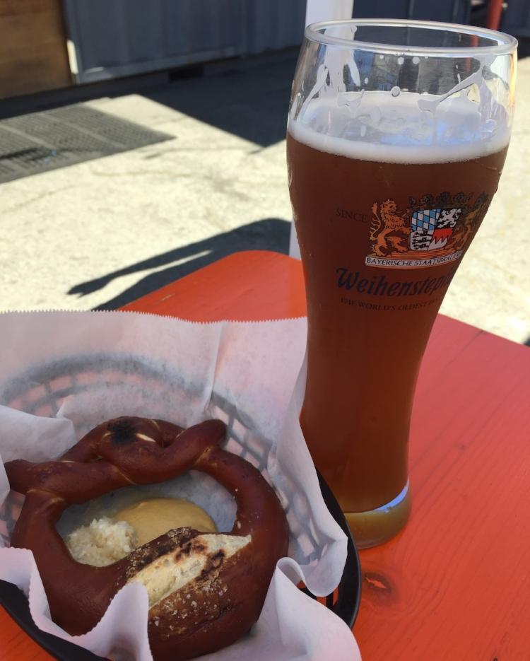 Beer and pretzels!