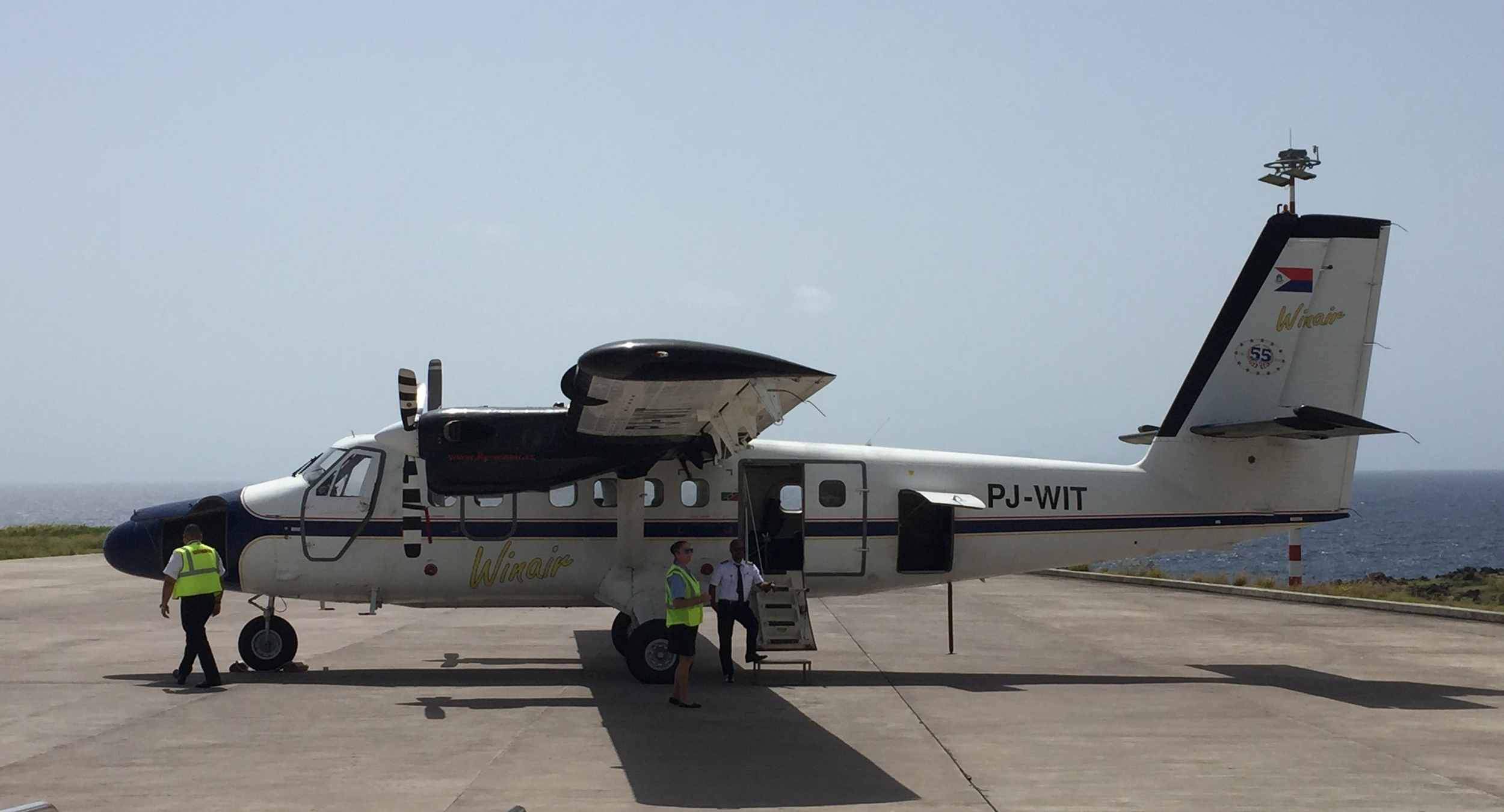 The Winair plane we took to Saba