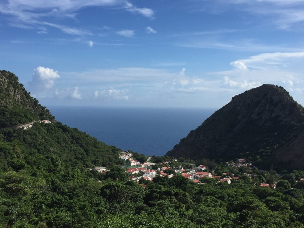 View of Saba's capital, The Bottom from our hotel room.
