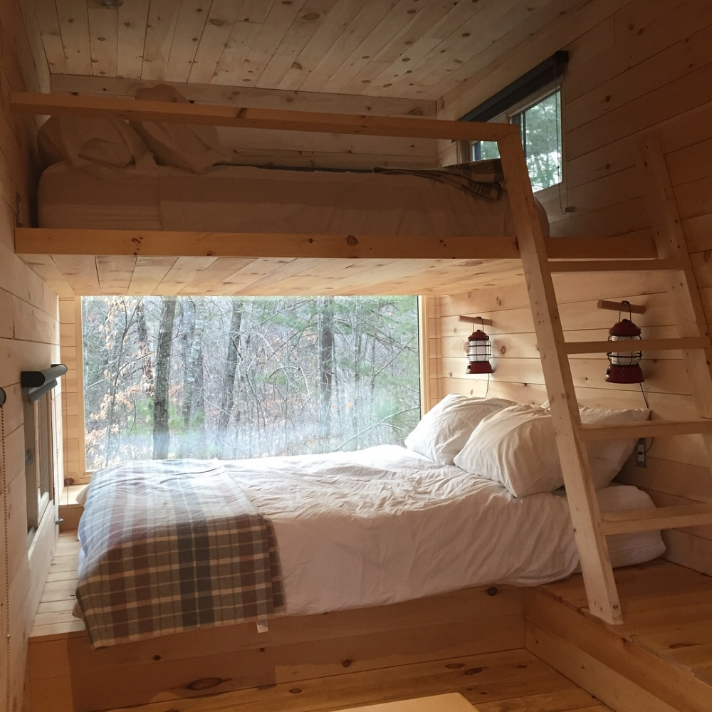 inside our tiny house in virginia