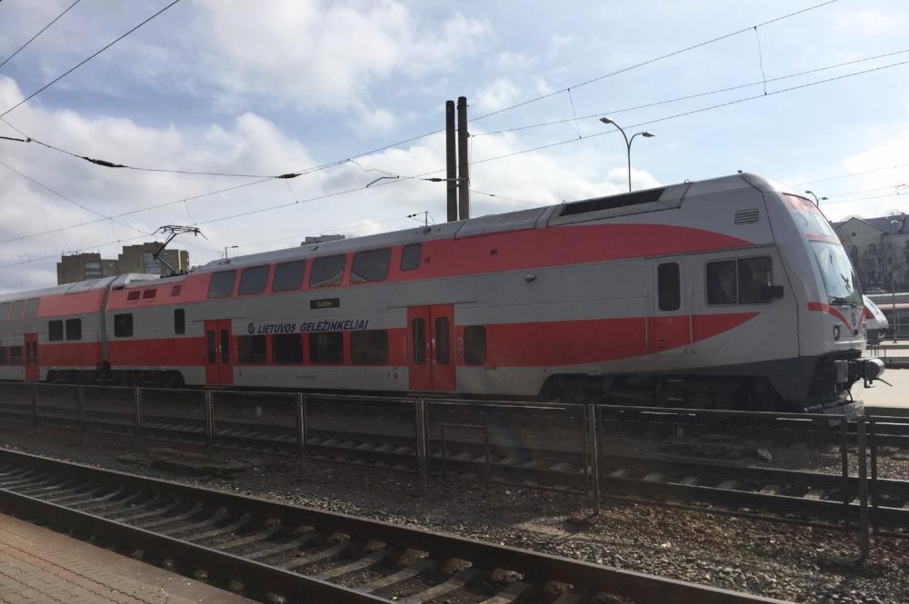 The train to Kaunas, Lithuania