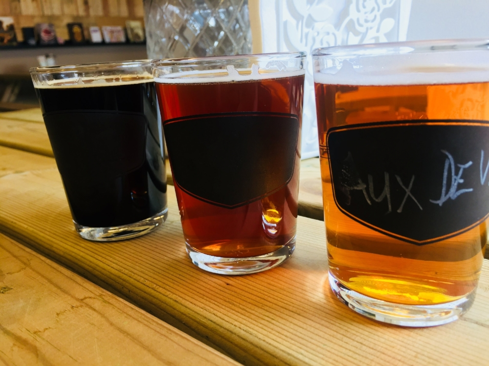 Craft beer flight in iceland