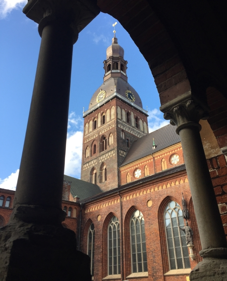 Riga Cathedral from the cloister.