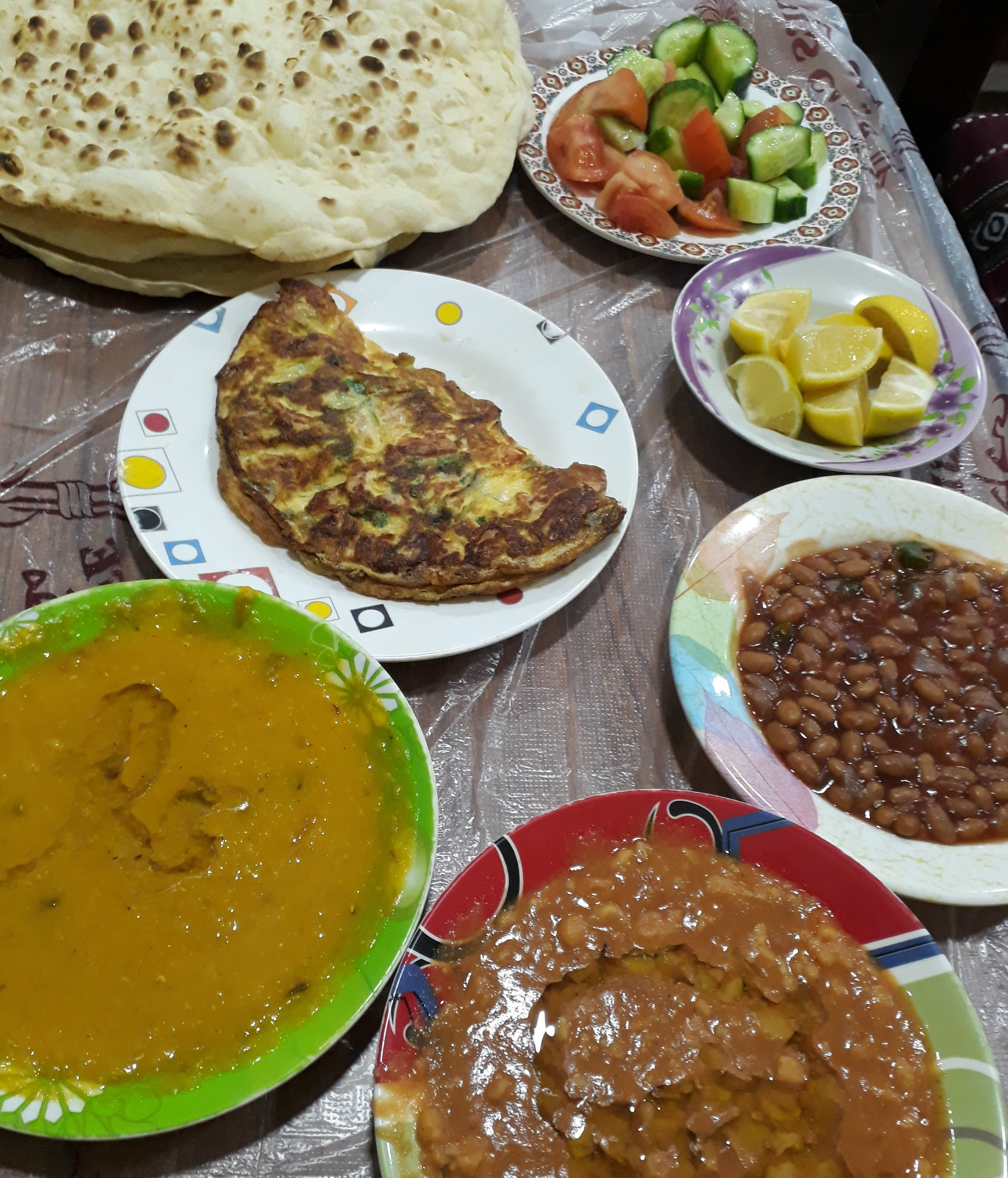 Traditional breakfast in Bahrain