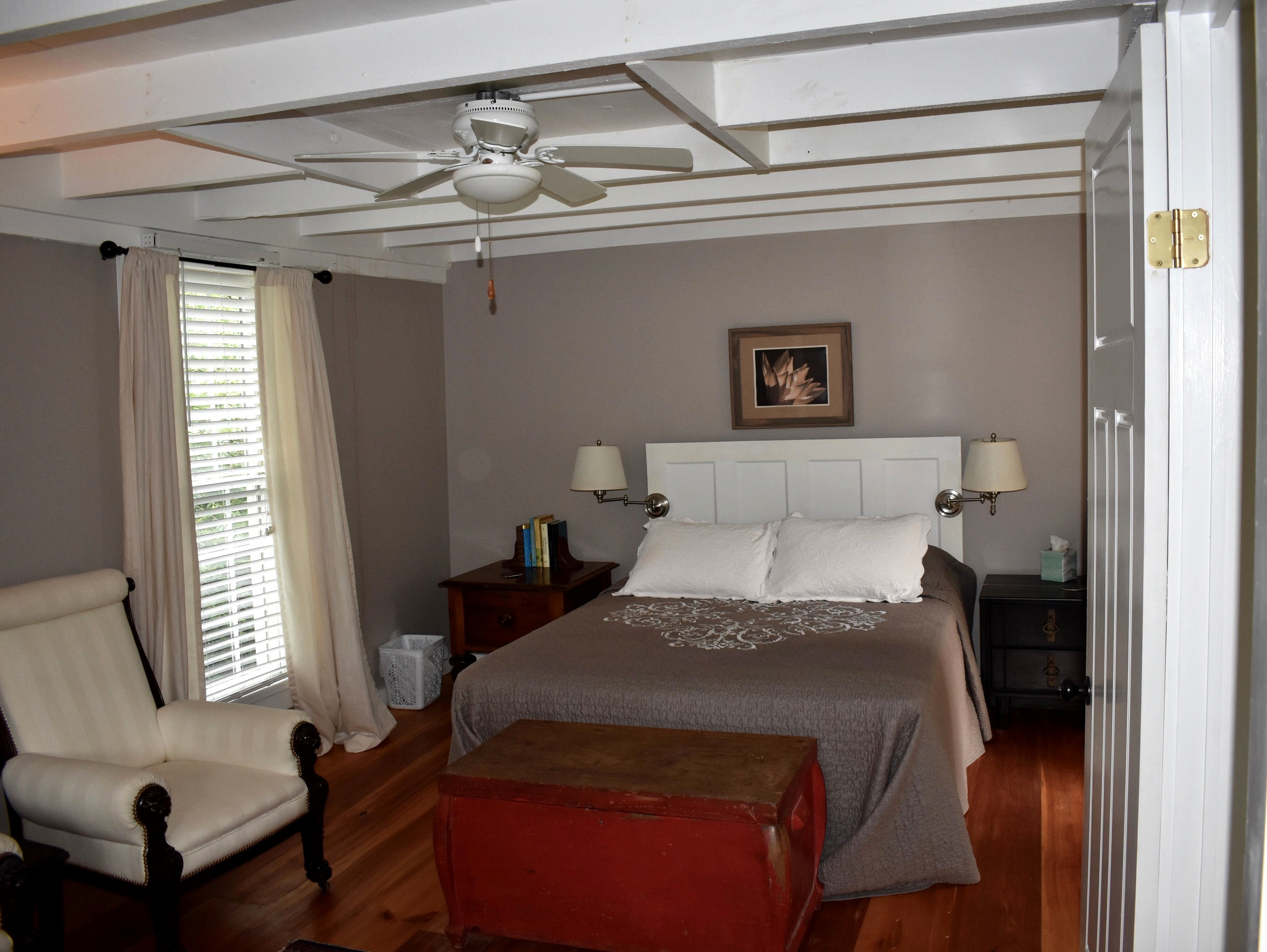 The second floor bedroom of the batesville cottage